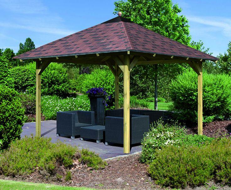 Pavillon en pin massif granada karibu tek - Cabane jardin karibu besancon ...