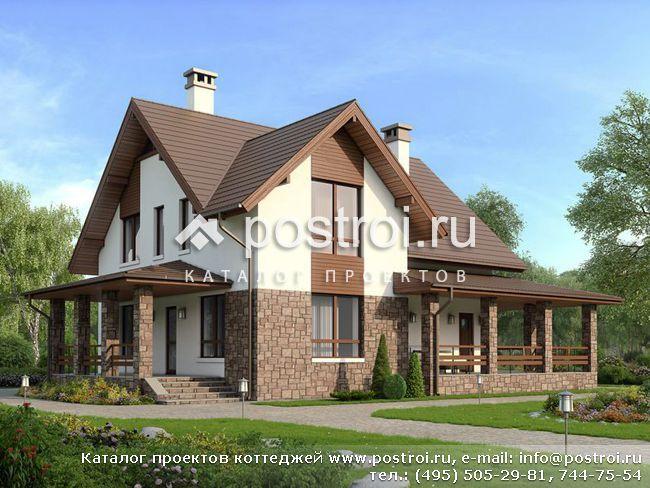 Проект двухэтажного дома для одной семьи № U-164-1P