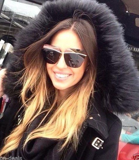 "RIMLESS Futuristic Half Demi Mirror ""metallic"" Square Aviator Women Sunglasses #FashionDeals #Aviator"