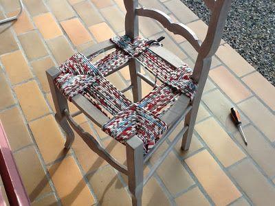 Rempaillage de chaise avec du tissu!!!