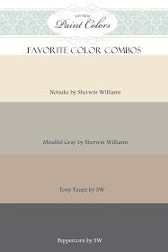 Complimentary house colours. Cream is village cream, brown grey is timeless elegance.