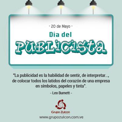 20 de Mayo. Día del #Publicista en #Venezuela e #Italia. #RRHH