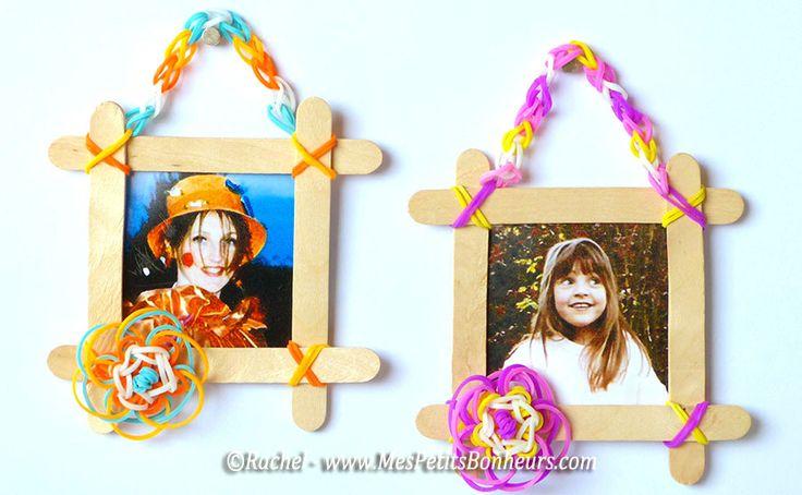 bricolage enfants cadres elastiques rainbow loom fleurs - Machines et élastiques : http://www.creactivites.com/268-elastiques-loom