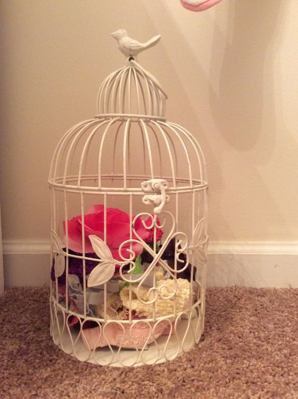 Baby girl bird nursery-  birdcage headband holder