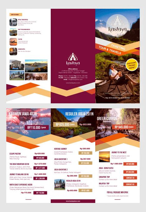 tourist brochure template - 25 best ideas about 3 fold brochure on pinterest tri