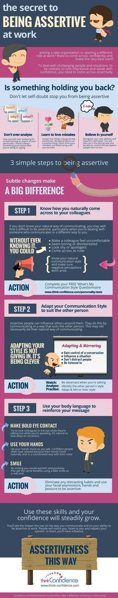 The Secret to Being Assertive At Work - Infographics - Website Magazine
