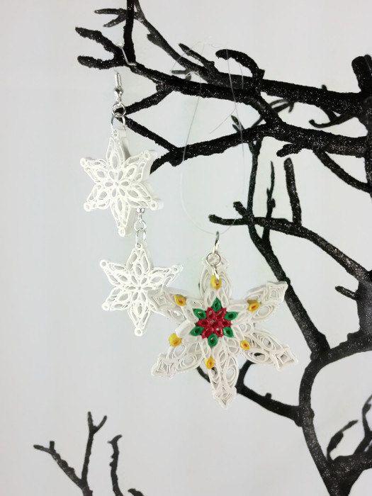 Papel Quilled sistema de la joyería de los copos de nieve