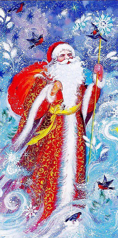 С новым годом дед мороз открытка
