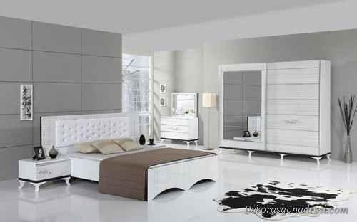 cool Bu Yıl Trend Siyah Beyaz Yatak Odaları
