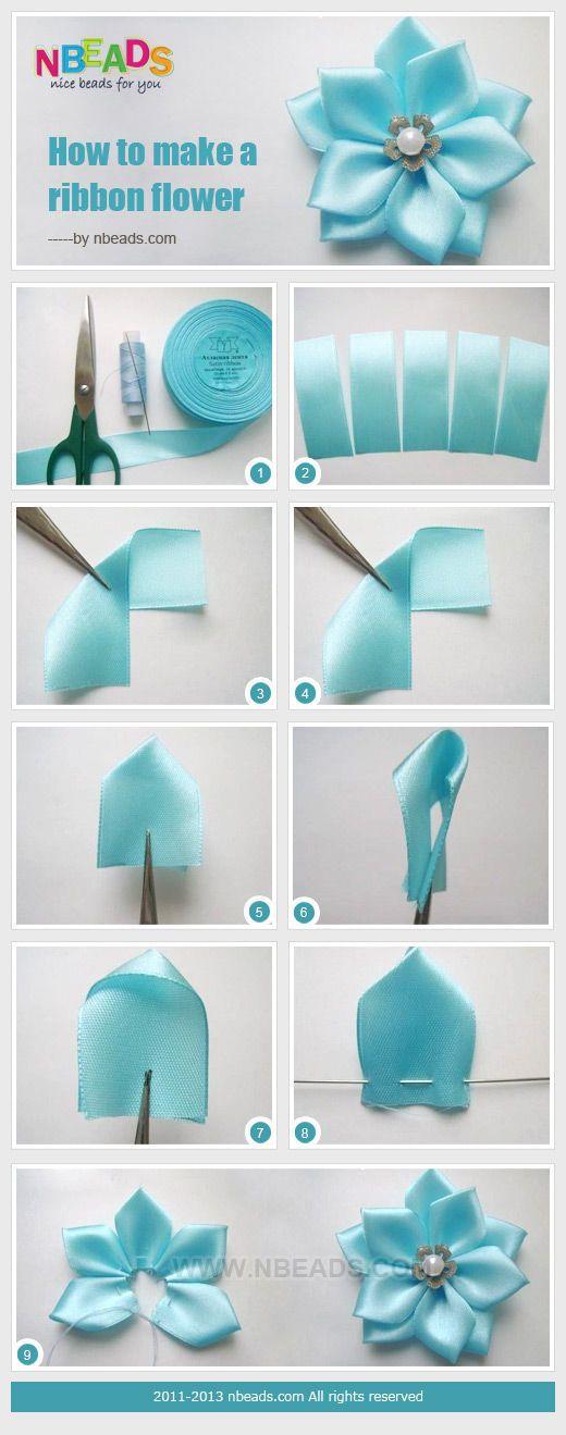 Como fazer uma flor de fita