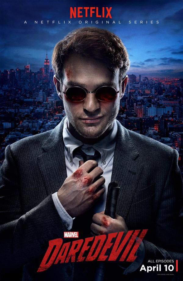 Daredevil promo poster. Coming to Netflix April 10th!