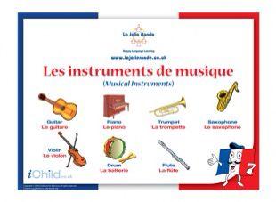 Les instruments utilise le verbe jouer.