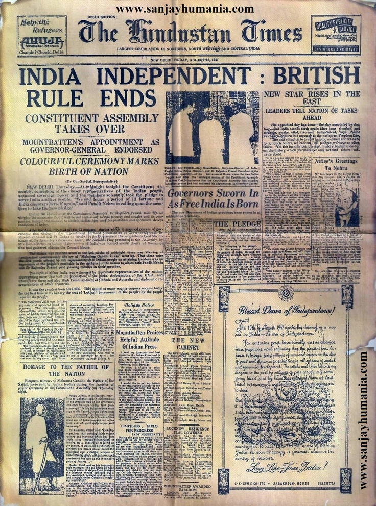 The Raj Quartet, by Paul Scott, chronicling the times around the event that was the Indian Independence Day - August 15, 1947