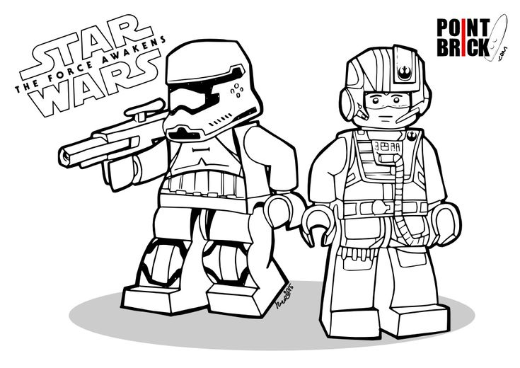 Disegni Da Colorare Lego Star Wars The Force Awakens First Order