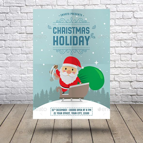 Winter Holiday flyer Winter holidays, Flyer template and Holidays - christmas flyer template
