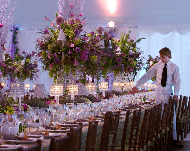 From A David Tutera Wedding ~~ Love The Purple Flowers