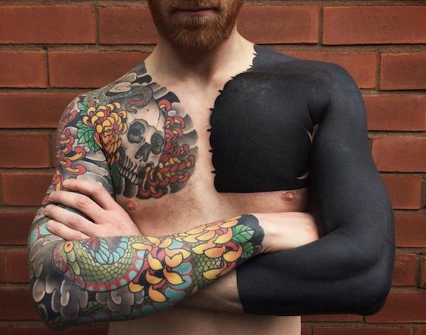 Gorgeous, Customized Solid Black Tattoos That Are Truly One Of A Kind - DesignTAXI.com