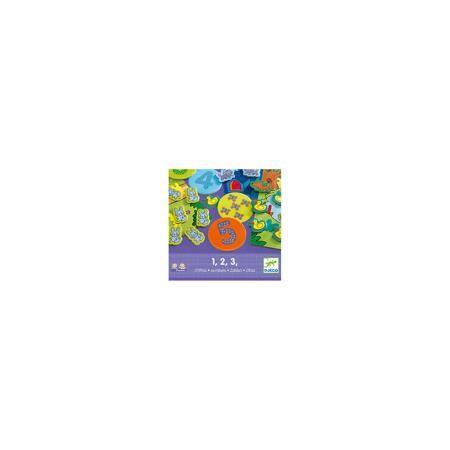 """DJECO Игра """"Eduludo: Цифры"""", DJECO  — 1689 руб.  —  Игра """"Eduludo: Цифры"""" поможет детям в интересной и увлекательно форме познакомиться с цифрами и освоить первоначальные навыки счета. Возможны 4 варианта игры – игра на память (найти соответствия), игра на наблюдательность, игра на ассоциации, игра на счет.   Дополнительная информация:  - Материал: картон, пластик. - Размер упаковки: 22х22х5,5 см. - Комплектация: 4 карточки, 10 кружков с рисунками, 10 кружков с числами, 55 героев (коты…"""