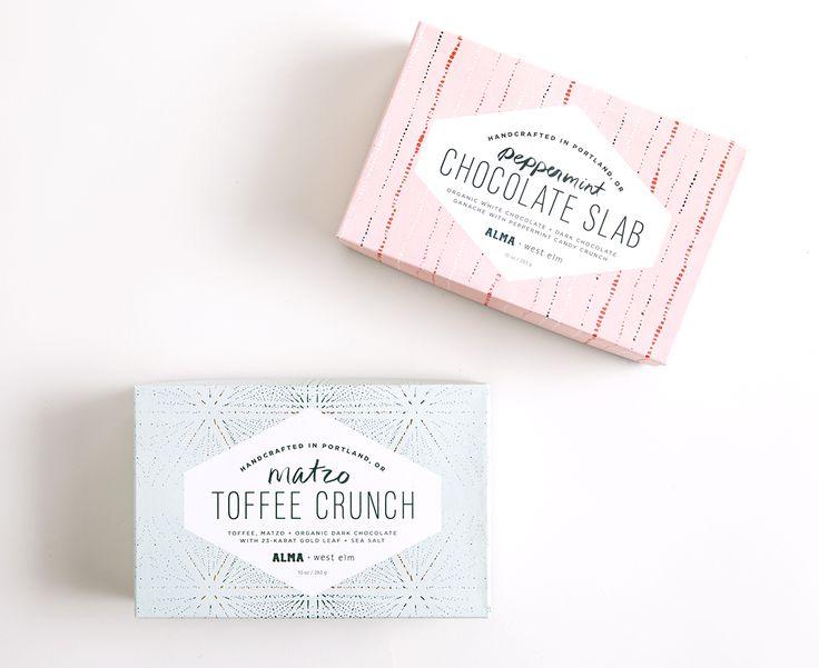 West Elm + Alma Chocolates — The Dieline - Branding & Packaging