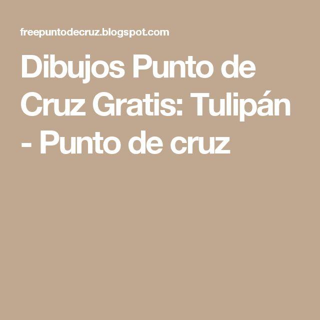 Dibujos Punto de Cruz Gratis: Tulipán - Punto de cruz