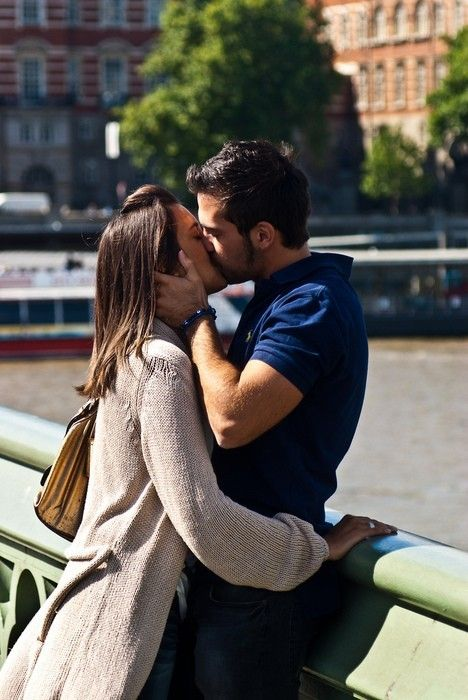 This is my dream. I long to be kissed just like this by a handsome man in a beautiful city.