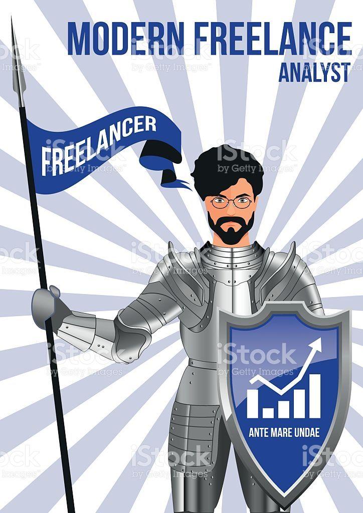Analyst freelancer design concept royalty-free stock vector art