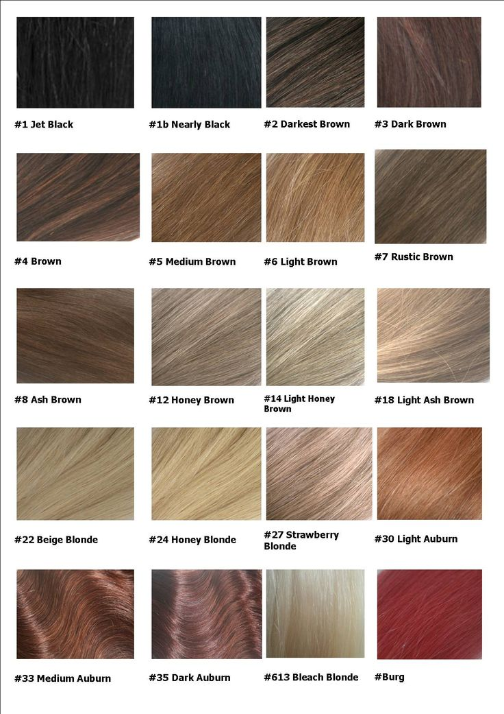 Hair color weave chart