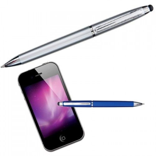 """Agent Stylus Promotional Pens allows you to use you phone with its """"stylus"""" tip, for added accuracy using apps. Excellent for businesses within technological sectors."""