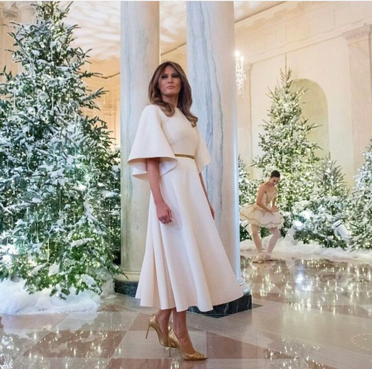 First lady melania promotes christmas at the white house
