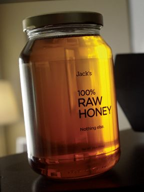 Jack's Raw Honey Packaging - this sells me.