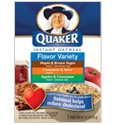 Quaker Instant Oatmeal - Flavor Variety Pack Crave a little variety now and then? So do we. That's why we offer Quaker Instant Oatmeal Flavor Variety Pack featuring Maple & Brown Sugar, Apples & Cinnamon and Cinnamon & Spice. With so much delicious variety, the only problem is deciding which one you'll have. #YAYOATS
