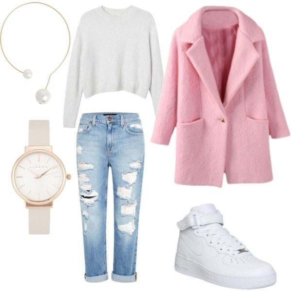 12 by smail-2033 on Polyvore featuring мода, Monki, Genetic Denim, NIKE, Jules Smith and Olivia Burton