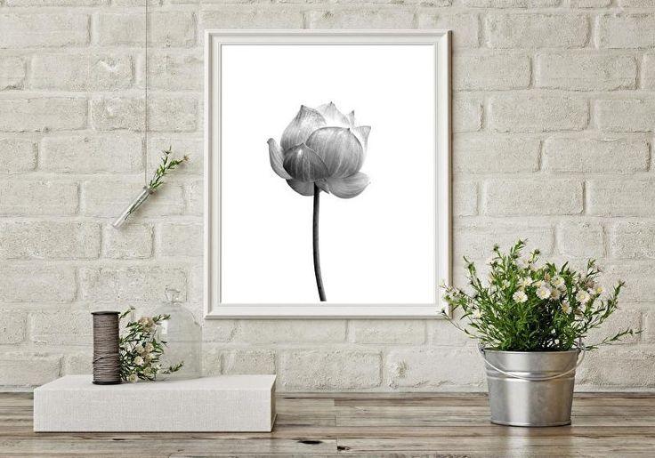 Kaart Lotus bloem Leuke monochrome ansichtkaart met foto van een lotus bloem. Een kaart is tegenwoordig zoveel meer dan om alleen te verzenden. Zo staan ze echt super leuk in een lijstje, kaartenhouder of aan de muur met washitape.