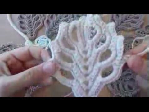 How to crochet openwork tree leaves (Irish crochet) - YouTube