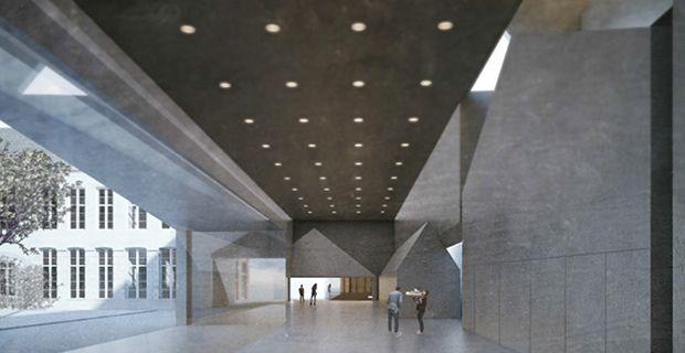 In Belgio la facoltà di Architettura realizzata dai fratelli Aires Mateus tra capannoni industriali e un ex ospedale che accolgono uffici biblioteca e aule dell'università.