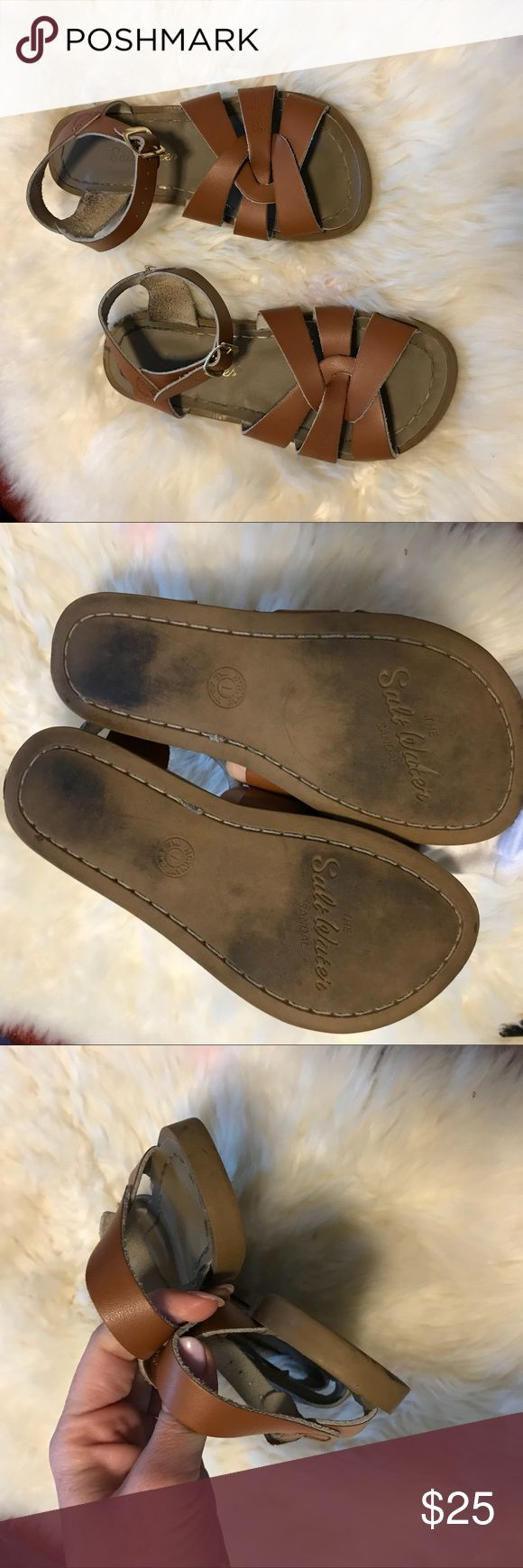Saltwater Sandals Leather In Camel Brown These are size 1 kids Salt Water Sandals by Hoy Shoes Sandals & Flip Flops