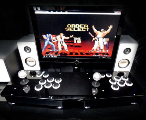 Double-PC-USB-Fighting-Stick-Arcade-PK-Joystick-6-key-botton-Street-Fighter-Game