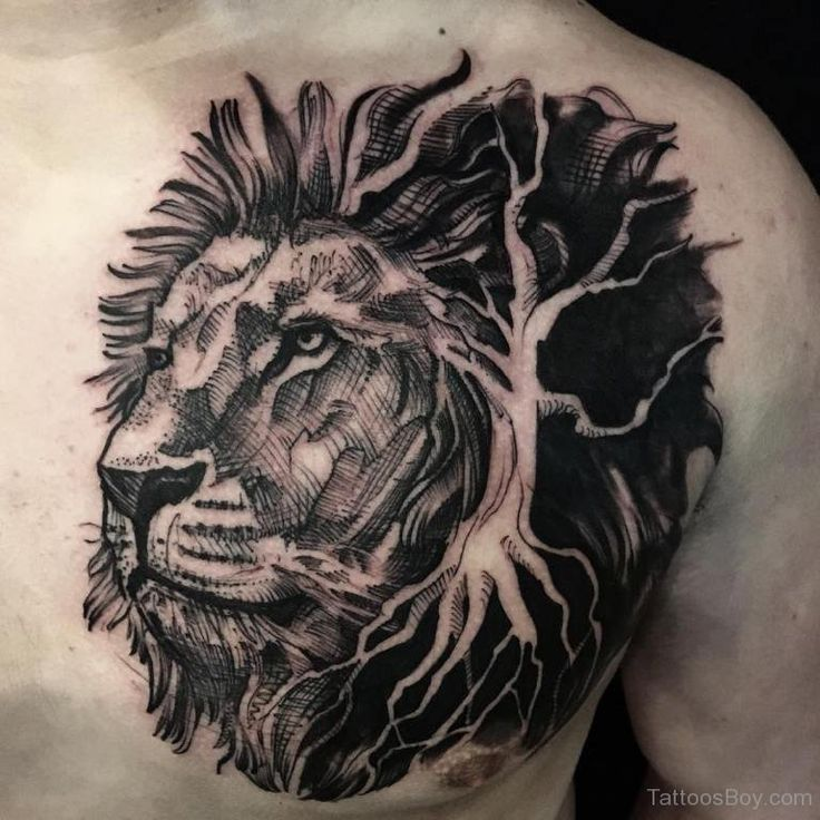 c5219958daa78dc1ded6b44594d385f0 lion chest tattoo chest tattoos for men