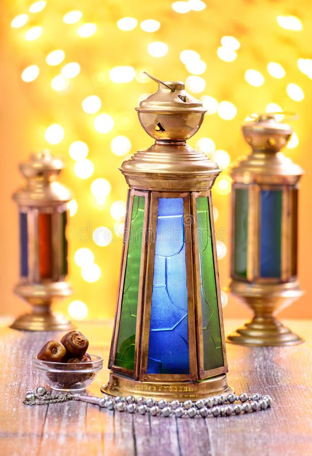 Ramadan Lantern Celebration Concept A Traditional Brass Lantern With Dates And Sponsored Concept Tradit Ramadan Lantern Lanterns Congratulations Images