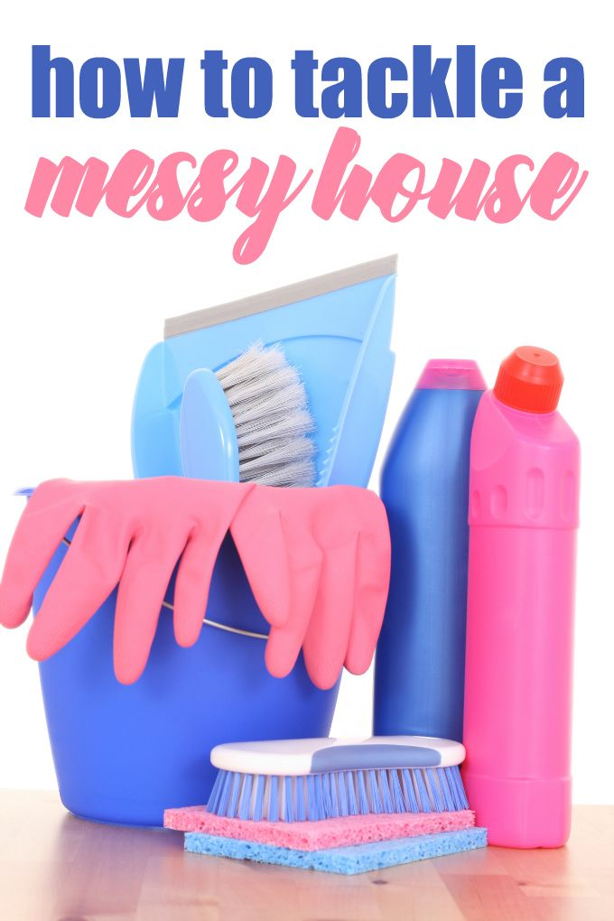 how to clean a messy house depression