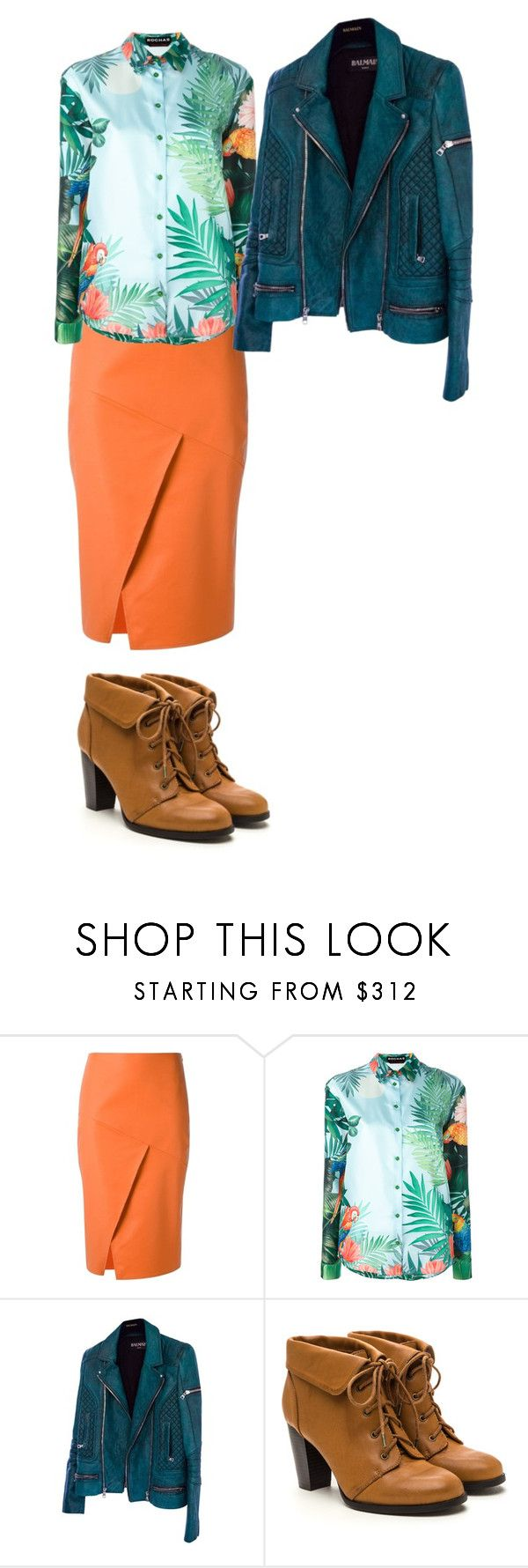 """""""цвет4"""" by sdelanodoma on Polyvore featuring Andrea Marques, Rochas and Balmain"""