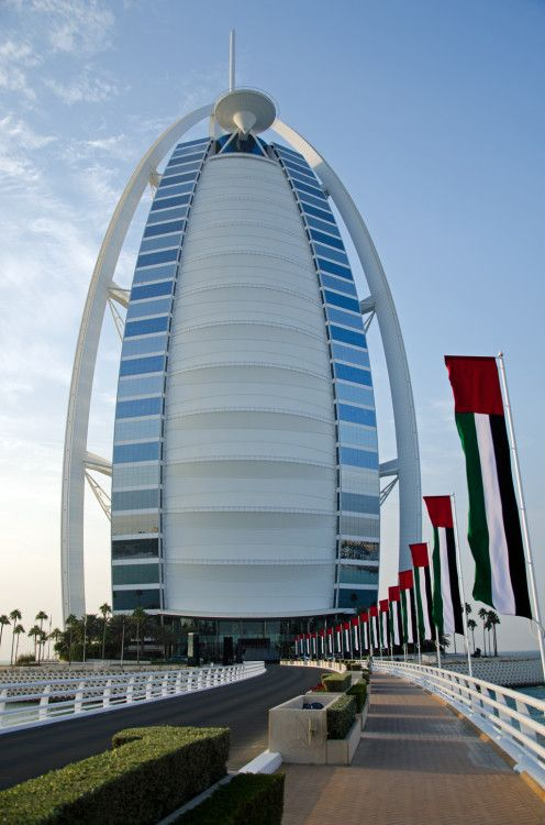 Burj Al Arab - world's first '7 star' hotel. Read about my stay here: http://www.foodandthefabulous.com/food-travel/one-night-burj-al-arab/