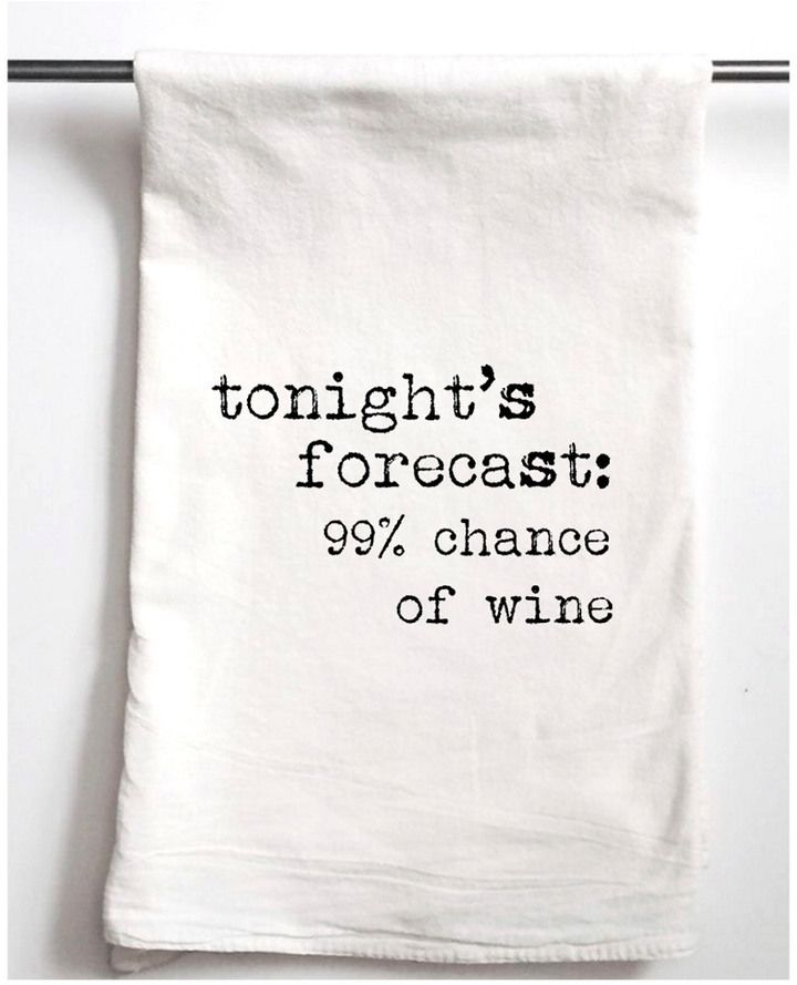Aspen Lane Set Of Two Wine Forecast Tea Towels