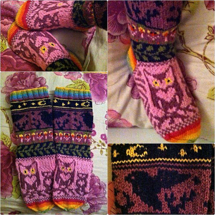 Owl socks / pöllösukat