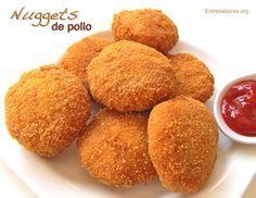 Nuggets de pollo caseros: