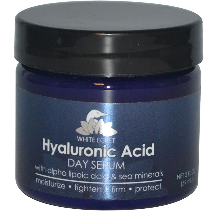 Hyaluronic acid used in face cream as an anti wrinkle solution.