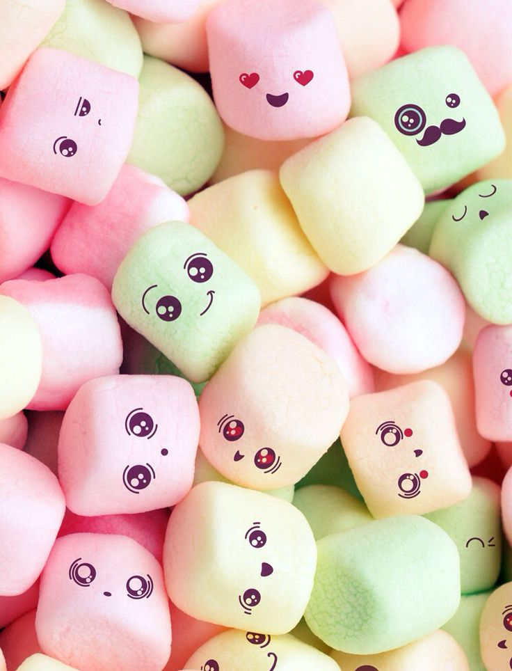 Mashmellows fondos de pantalla pinterest malvaviscos for Fond ecran kawaii