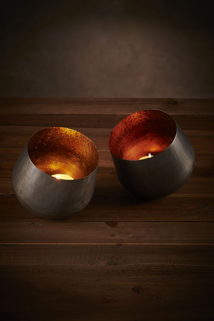 Sparl Votives: Gold + Copper