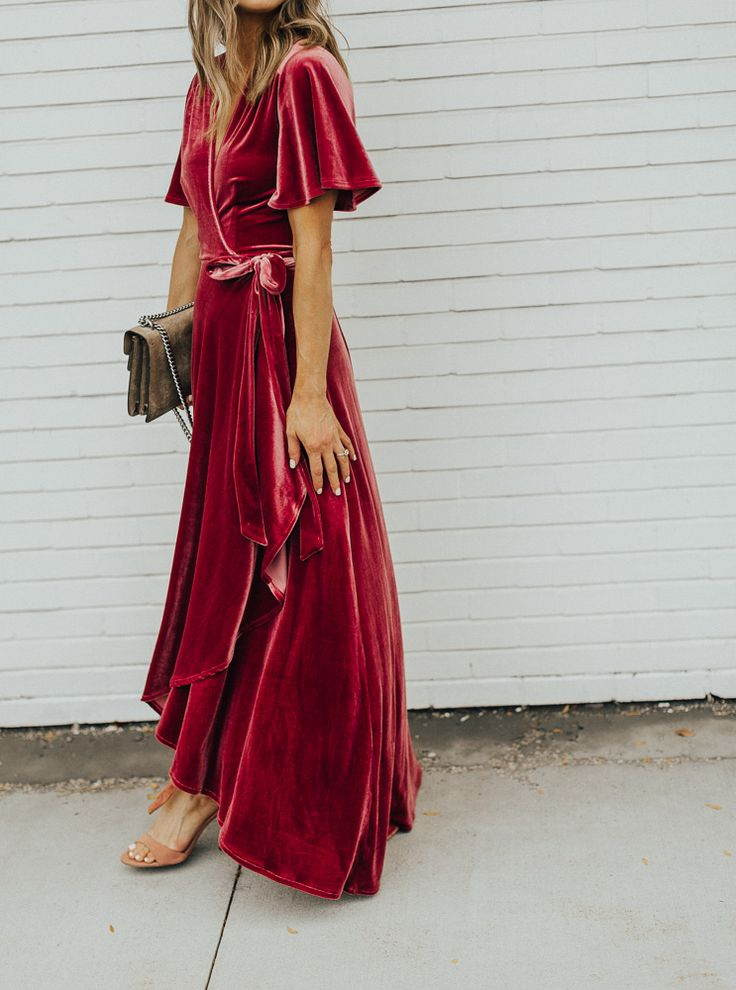 Would love to give this a Boho Vibe...velvet wrap dress♥️