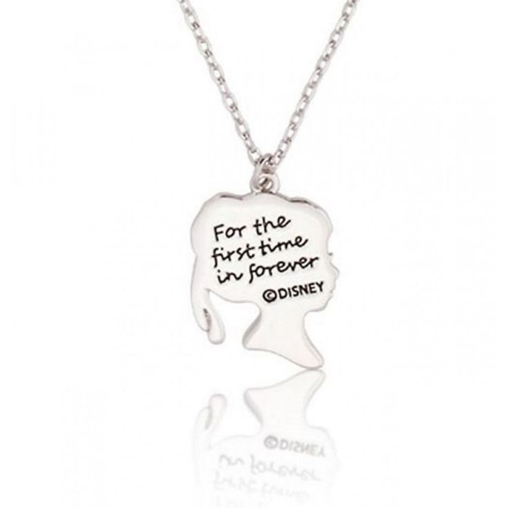 """Disney Couture Frozen """"First Time in Forever"""" Anna Silhouette Necklace"""